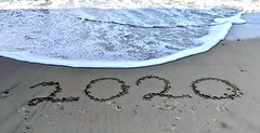 Look what the tide brought in - 2020! (Bennilover) Tags: pacific sanclemente ocean sand writing newyear newdecade smileonsaturday 2020 california