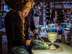 Where They're Made (Wes Iversen) Tags: clichesaturday dlasserceramicsstudioshowroom hcs londonderry nikkor18300mm route100 vermont ceramics crafts goblets pottery women people