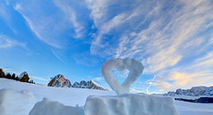 Love and Happiness (pauldunn52) Tags: alpe di siusi italy dolomites winter snow art environmental