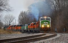 Outstanding Move (Jacob Narup) Tags: bnsf bnsfrailway bnsfbarstowsub bn burlingtonnorthern train trains railfan railroad railfanning bnbarstowsub illinois sd60m bnsd60m bnsf1464 colona colonail colonaillinois exhaust