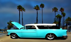 A 55 Nomad (beachpeepsrus) Tags: car beach nomad 55