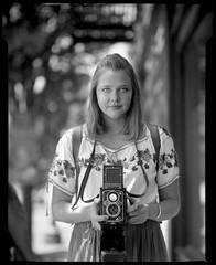 Alice C. Walker 180753 (jimhairphoto) Tags: america documentary street portrait 1927 graflexrb pdx portland nw northwest oregon 4x5 film ilford fp4 blackandwhite blancetnoir schwarzeweiss blancoynegro blancinegre siyahrebeyaz jimhairphoto