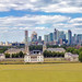 The Old Royal Naval College Greenwich with The City and East London background