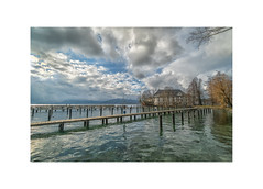 At the Lakes of Salzkammergut (My digital Gallery) Tags: kammer schörfling attersee salzkammergut austria europe eu lake see castle schlos wasser water steg bootssteg wasserschlos