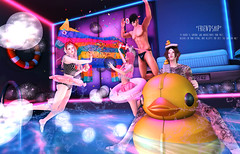 """Friendship"" (Chiaki♪) Tags: secondlife friendship friend fashion story swimmingpool swim duck fun party balloon neonlight neon sk sl"