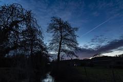 Dawn Stiffkey River (Bryan Appleyard) Tags: dawn clouds river trees stiffkey norfolk contrails blue d850