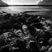 20190614_56 Dark & shitty shot of beautiful creek running toward the fairytale-esque Ersfjord beach on the island of Senja, Norway