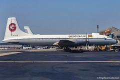 9G-ACE / LTN mid 1970s (propfreak) Tags: propfreak propfreakcollection slidescan eggw ltn luton 9gace bristol b175 britannia253f geminair lukumairservice 9qcum bristolbritannia royalairforce raf xm520