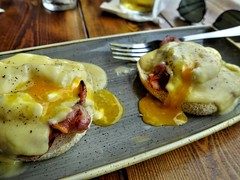 Eggs Benedict by the river at York (Tony Worrall) Tags: photos photograff things uk england food foodie grub eat eaten taste tasty cook cooked iatethis foodporn foodpictures picturesoffood dish dishes menu plate plated made ingrediants nice flavour foodophile x yummy make tasted meal nutritional freshtaste foodstuff cuisine nourishment nutriments provisions ration refreshment store sustenance fare foodstuffs meals snacks bites chow cookery diet eatable fodder ilobsterit instagram forsale sell buy cost stock yolk eggs runny two poached