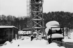 Ashibetsu dam (threepinner) Tags: ashibetsu dam hokkaido northernjapan winter snow pentax mzm pentaxm 50mm f17 kodak microfilm imagelink hq selfdeveloped plustek opticfilm 120 芦別ダム 芦別 北海道 北日本