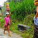 Balinese women with Hindu offerings on their way to the temple