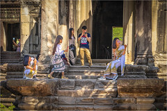 Saturday for Stairs (Janos Kertesz) Tags: ancient temple cambodia stone architecture religion khmer asia religious angkor old heritage landmark sculpture wat angkorwat stair saturdayforstairs