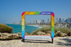 Love is Love (Tel Aviv-Yafo, Israel) (My Wave Pics) Tags: israel city travel sea mediterranean aviv town architecture cityscape urban tourism skyline east sky panorama beach middle tel landscape modern summer building street blue skyscraper view panoramic color scene coastline tower old exterior water vacation jaffa hotel aerial telaviv scenic landmark cloud white business office background day road