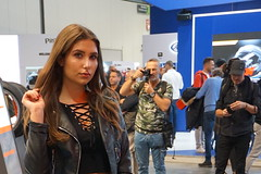 beautiful brunette (themax2) Tags: 2019 beauty bike brunette eicma expo girl hostess promoter
