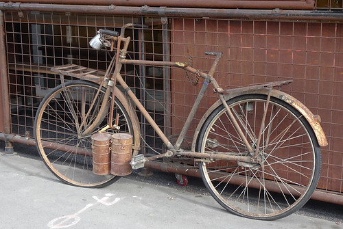 Rusty Old Bike with No Seat