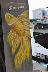 KaroWand_7087 quai d'Austerlitz Paris 13 (meuh1246) Tags: streetart paris karowand quaidausterlitz paris13 animaux poisson