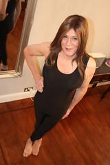 More posing going on than working out. (suedel36) Tags: crossdresser cd transvestite tgirl tgurl lycra leotard