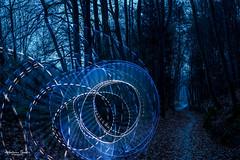 Lichterscheinung im Wald (AnBind) Tags: lightart motive lightpainting orte lightblade tube meinegegend 2020 wald egelsee imwald