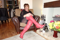 Friday 3rd January 2020 (Victoria HS) Tags: tgirl tgurl cd crossdresser tv transvestite sexy hot horny boots long red thigboots hels tights pretty sex anal