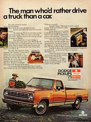 1975 Dodge Pick-Up Truck Chrysler USA Original Magazine Advertisement (Darren Marlow) Tags: 1 5 7 9 19 75 1975 d dodge p pick u up t truck c chrysler m mopar car cool collectible collectors classic a automobile v vehicle usa s states united american america 70s