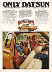 1977 Datsun King Cab Pick-Up Truck Nissan USA Original Magazine Advertisement (Darren Marlow) Tags: 1 7 9 19 77 1977 d datsun k king c cab p pick u up t truck car cool collectible n nissan collectors classic a automobile v vehicle j jap japan japanese asian asia 70s