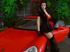 Lucy & the Porsche (05) (Blondeactionman) Tags: bamhq bamcomix doll phicen action figure diorama playscale rc photography agent of bam lucy