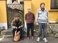 iphone photo 2731: Blood relations. Akabane Tokyo, 04 Jan 2020 (Megumi Manzaki) Tags: iphone portrait family oldman oldwoman uncle nephew mother son