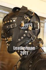 All leather (leatherman2011) Tags: leather hood bondage locks restrained
