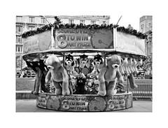 I wanna win something ! (CJS*64) Tags: liverpool merseyside uk unitedkingdom whiteborder cjs64 craigsunter cjs daytripper daytrip dayout city nikon nikond7000 sigma sigma1770mm blackwhite bw blackandwhite whiteblack whiteandblack mono monochrome fairground stall win lose