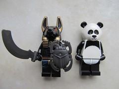 2020-01-04 (11h42) - Anubis Guard and Panda Guy (saltwood67) Tags: lego anubis guard panda