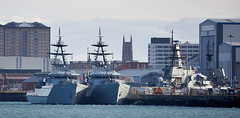 Warships Portsmouth (Bernie Condon) Tags: portsmouth dockyard hmnb historicdockyard hampshire hmnavalbase rn navy royalnavy harbour port