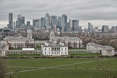 The view from Observatory Hill (Phancurio) Tags: london greenwich observatory cityscape