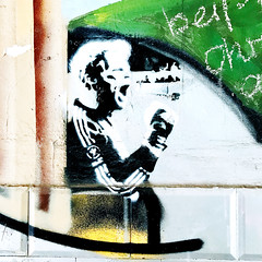 Stencil Art Football (DaWernRulez) Tags: stencil art football hannover hipstamatic x soccer fusball oliver oli kahn