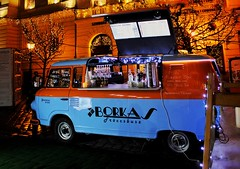 The spritzer bus 🍷🍷🍷 (My colourful world️) Tags: canon1300d budapest christmasmarket spritzer bus hotwine winter beautiful lights decorations colourful