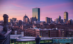 Boston (romanboed) Tags: leica m 240 summilux 50 winter usa boston skyline city sunrise cityscape