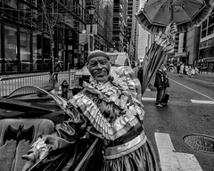 Mummers Parade, 2020 (Alan Barr) Tags: philadelphia mummer mummersparade newyear parade marketstreet costume street sp streetphotography streetphoto blackandwhite bw blackwhite city people olympus omd em1ii