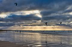 This afternoon. Kiteboarders training. (Jan 04, 2020) (ms.gulbis) Tags: kiteboarding afternoon winter january balticsea beach water waves wind seashore seascape seaside clouds