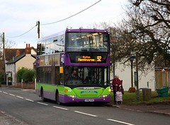 Last day of through service on the 92 (Chris Baines) Tags: ipswich buses scania omnicity yr51 rve sir bobby robson 92 service manningtree kings head stutton