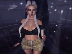 Champagne (Mαяℓу) Tags: insomnia pinkcharcoal fabia secondlife blond catwa euphoric gingerfish gold chicchica champagne bubbles