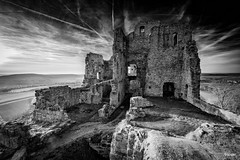 Intermezzo XC (Holger Glaab) Tags: landscape landscapephotography bnw blackandwhite monochrome castle ruin spessart sky travel travelphotography lower franconia