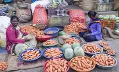 The Carrot Seller (Koshyk) Tags: agora market mandi bangalore chickpet wholesalemarket subzimandi vegetable fruits flowers colourful