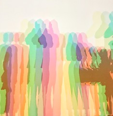 Selfie (marktmcn) Tags: light installation tate modern gallery 2019 people me shadows olafur eliasson your uncertain shadow colour 2010