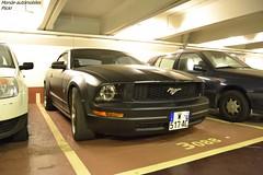 Ford Mustang GT Cabriolet (Monde-Auto Passion Photos) Tags: voiture vehicule auto automobile cars ford mustang gt cabriolet convertible roadster sportive spider noir black mat parking sousterrain foch france paris