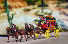 The Wild West (George Plakides) Tags: wildwest wellsfargo stagecoach matchbox modelsofyesteryear horses cowboys western wheels cactus