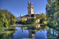 Specola (Jan Kranendonk) Tags: padova padua italy italia italian europe observatory astronomical specola castle tower hdr water river trees historical ngc