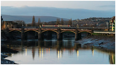 The Usk at Dusk (Mark Gowing) Tags: newport riverusk tfw class175