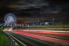 Motorway Life (Deek Wilson) Tags: belfast westlink lighttrail night afterdark traffic cityscape motorway therise sculpture northernireland