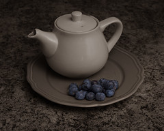 Tea Time (Robin Penrose) Tags: 2020 202001 tea health healthy blueberries berries cc transition light 366the2020edition 3662020 day4366 04jan2020 252 52weekproject
