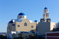 Eglise de Saint Efstathios (rr18989) Tags: saint efstathios santorini santorin εκκλησία αγίου ευσταθίου church orthodox fira thera thira kontochori eustache agios eglise ile island greek grece greece iglesa dome blue bleu