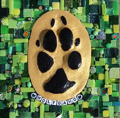 Memory Paw Print Mosaic - Wolfgang (siriusmosaics) Tags: pawprint dog memorialpawprint doberman wolfgang dogpawprint mosaicpawprint siriusmosaics paw print art
